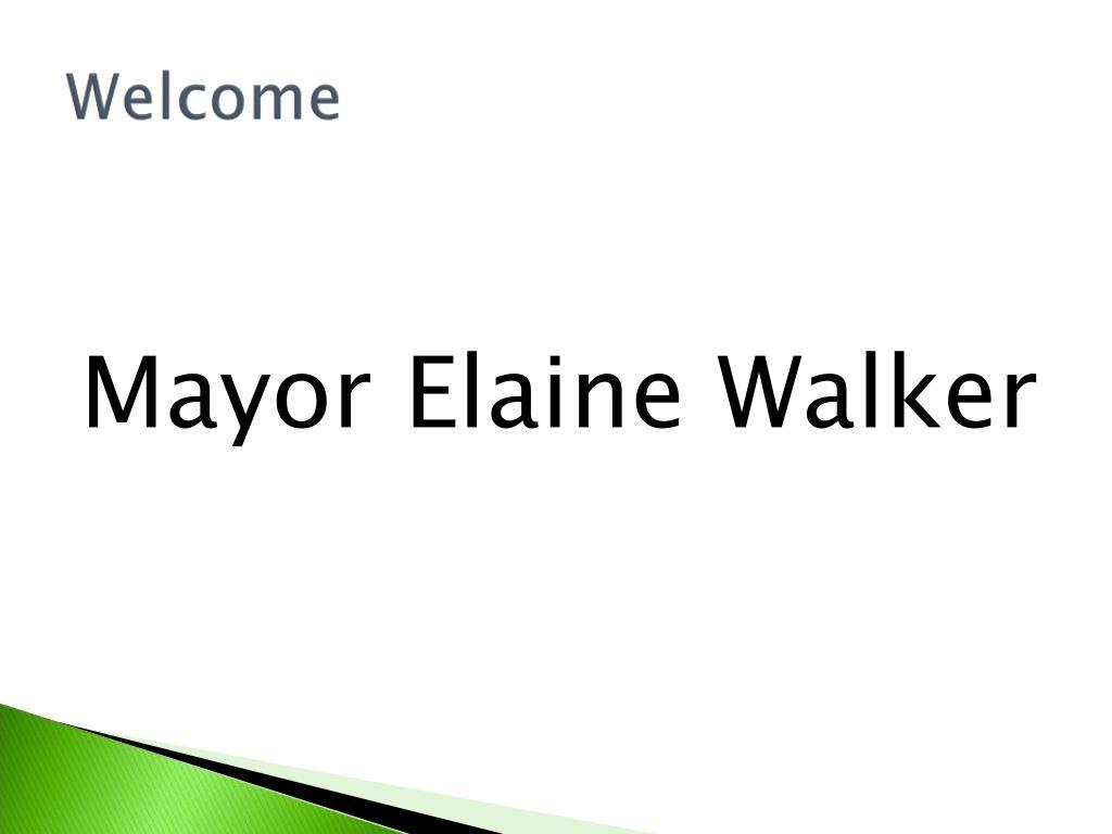 Mayor Elaine Walker