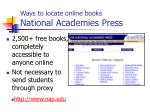 ways to locate online books national academies press