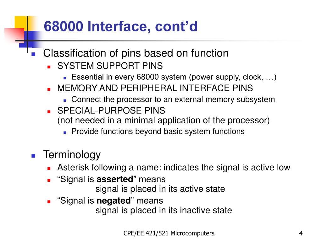 68000 Interface, cont'd