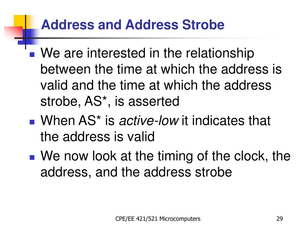 Address and Address Strobe