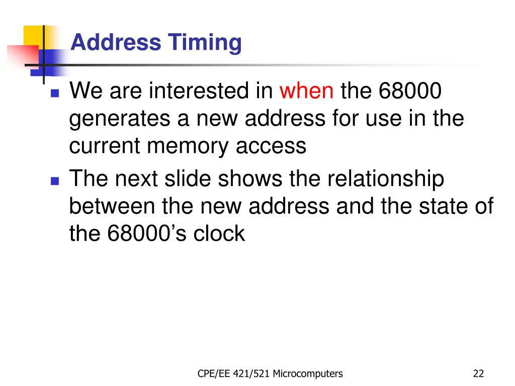 Address Timing