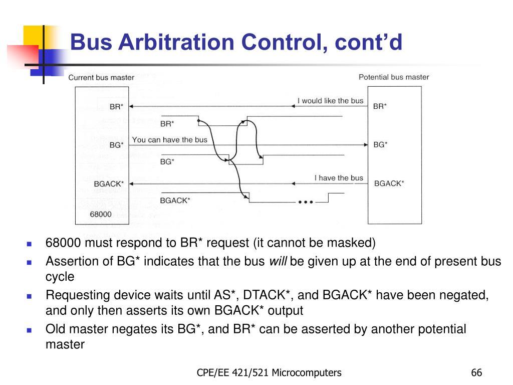 Bus Arbitration Control, cont'd