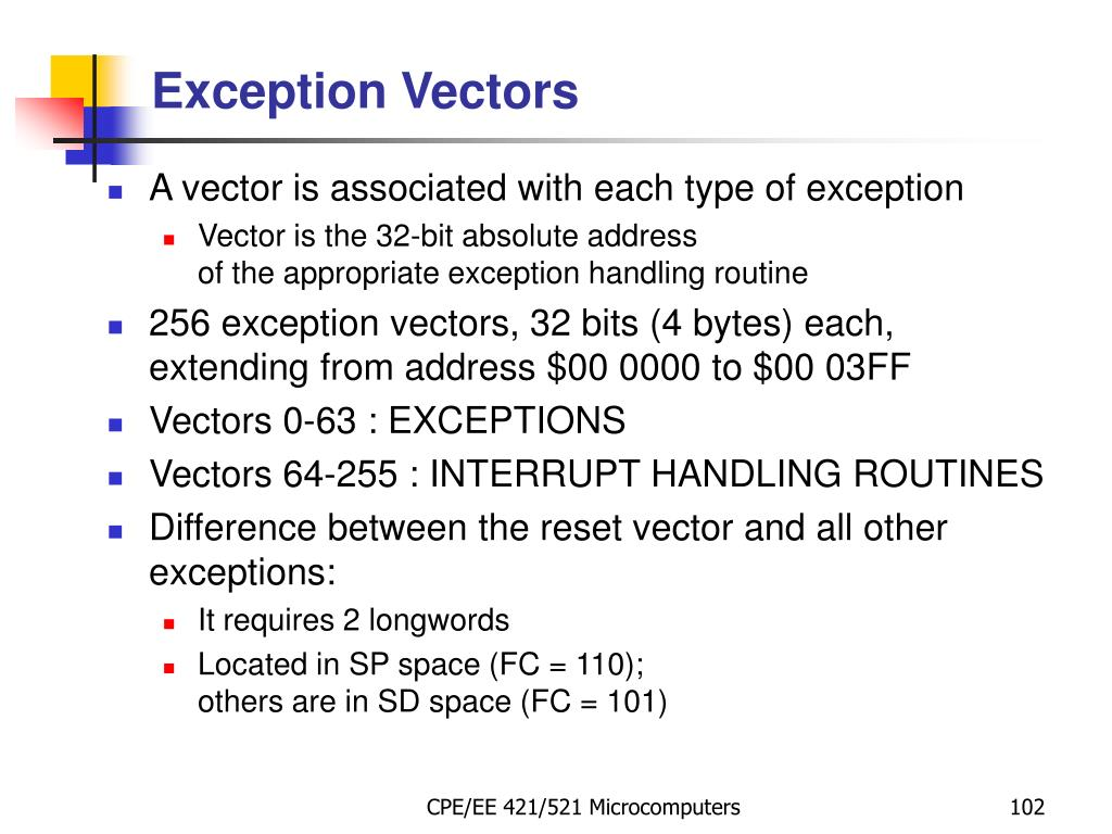 Exception Vectors