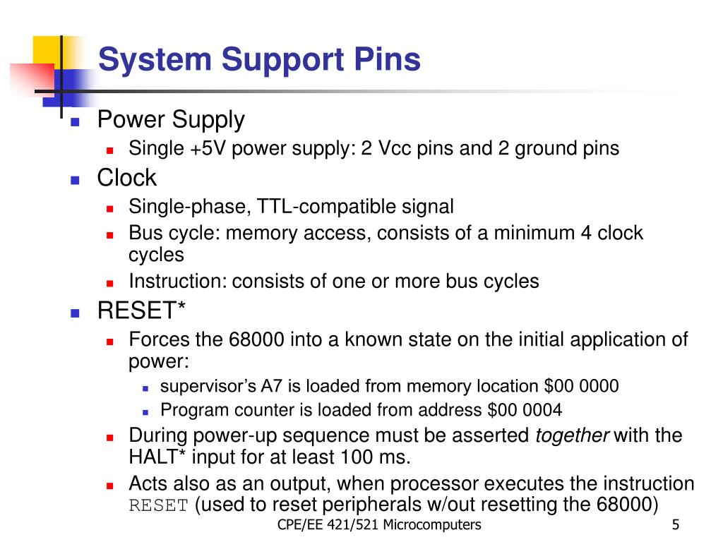 System Support Pins
