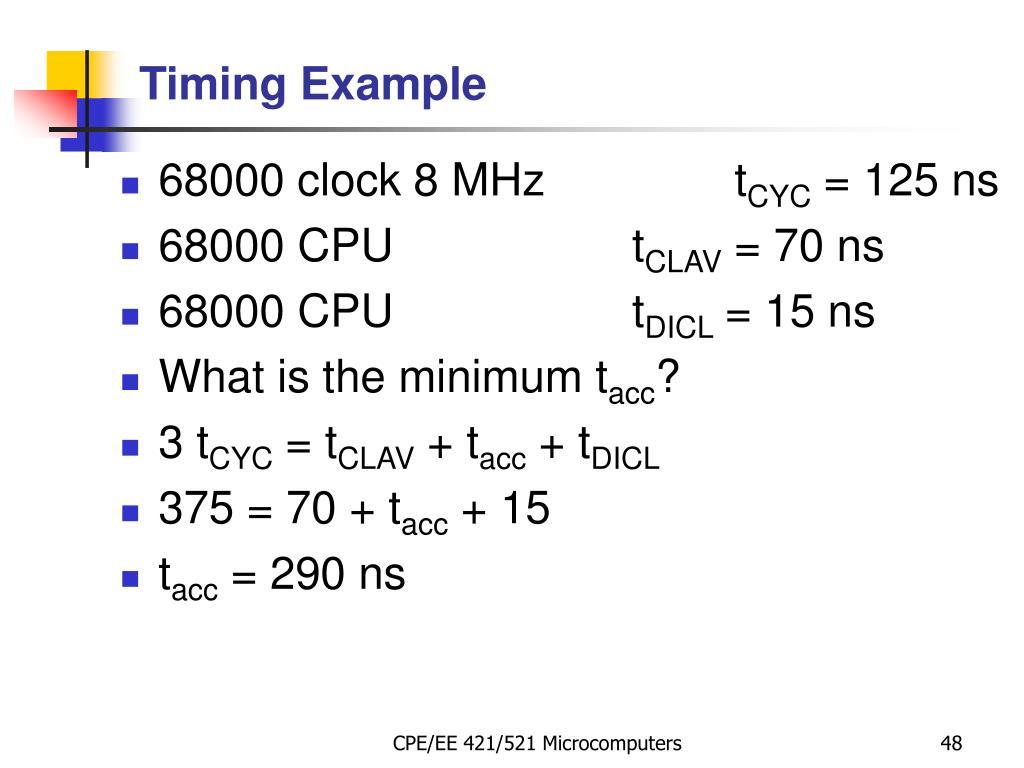 68000 clock 8 MHzt