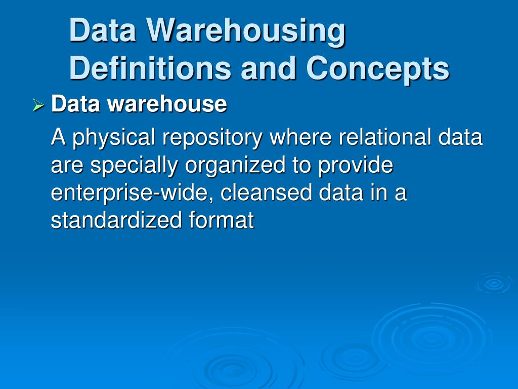 definition of data warehousing essay Data warehouse essay - download as word doc (doc / docx), pdf file (pdf), text file (txt) or read online case study british airways.