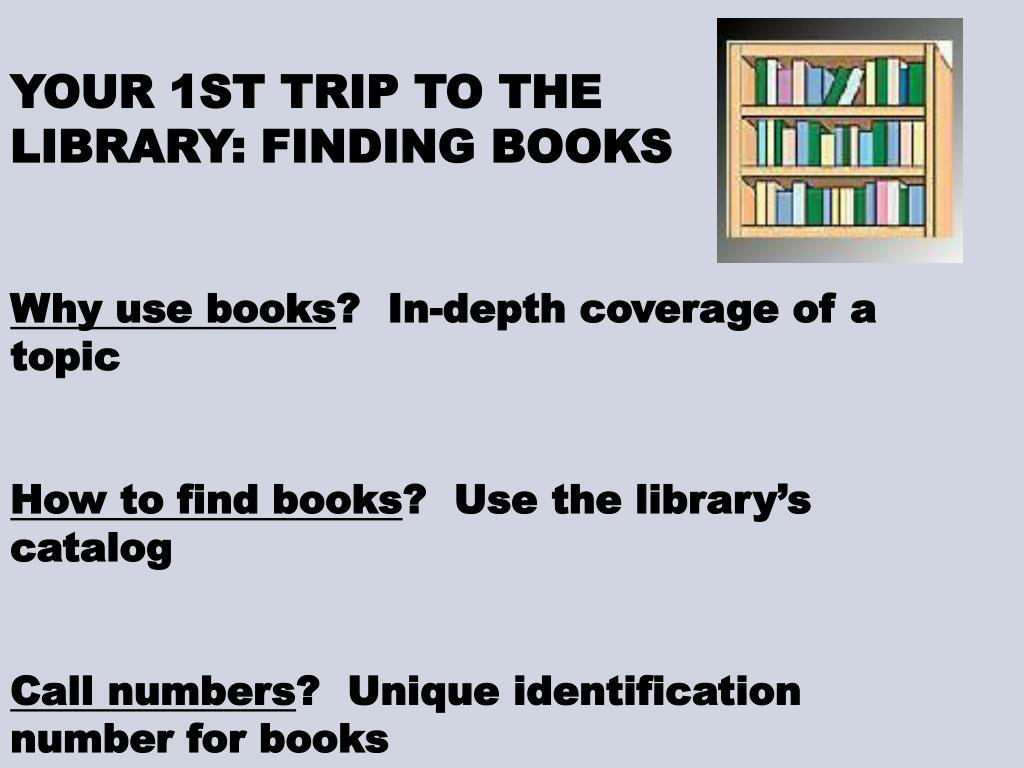YOUR 1ST TRIP TO THE LIBRARY: FINDING BOOKS