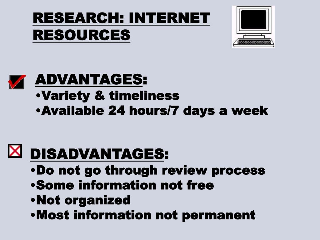 RESEARCH: INTERNET RESOURCES
