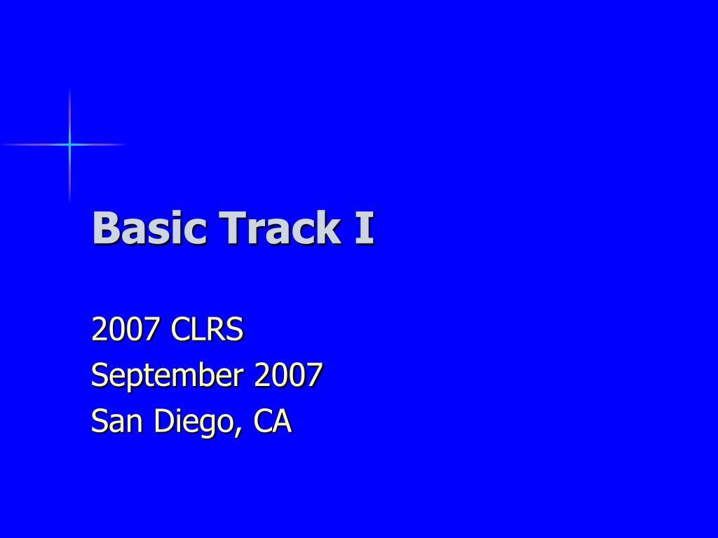basic track i l.