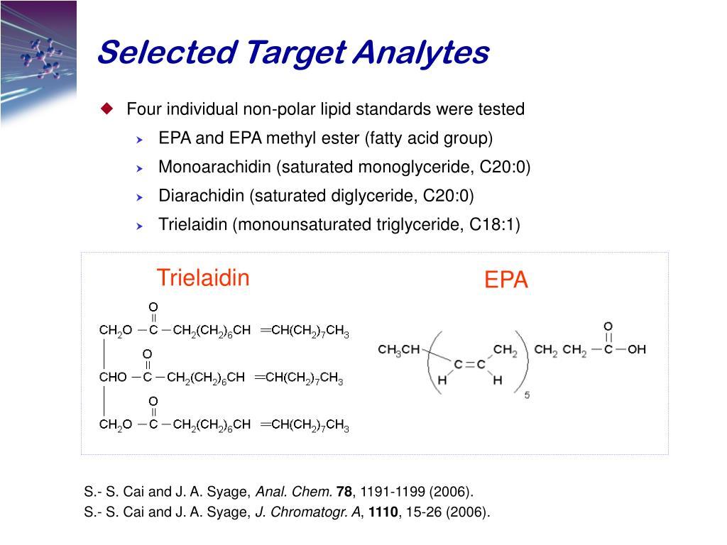 Selected Target Analytes