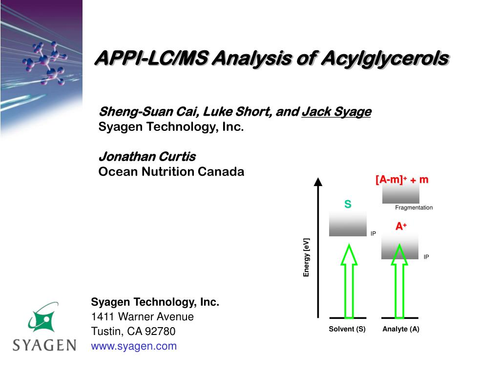 APPI-LC/MS Analysis of Acylglycerols