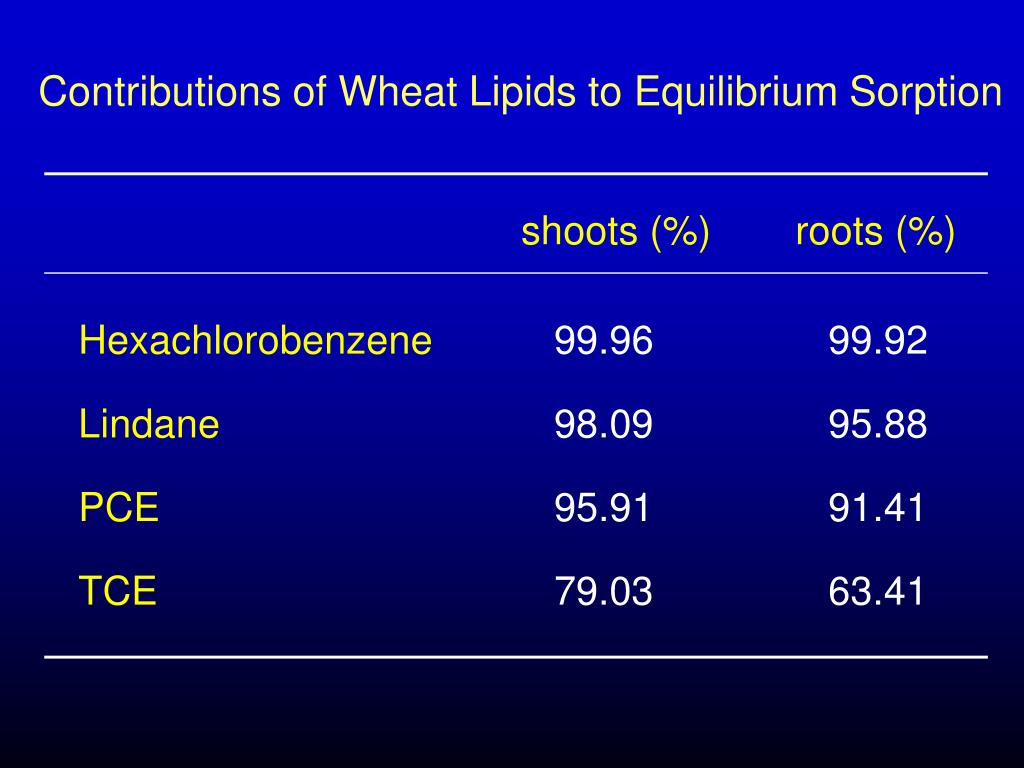 Contributions of Wheat Lipids to Equilibrium Sorption