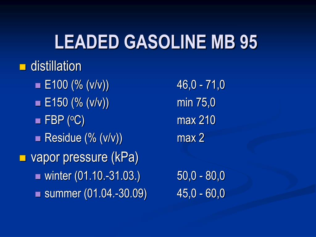 LEADED GASOLINE MB 95