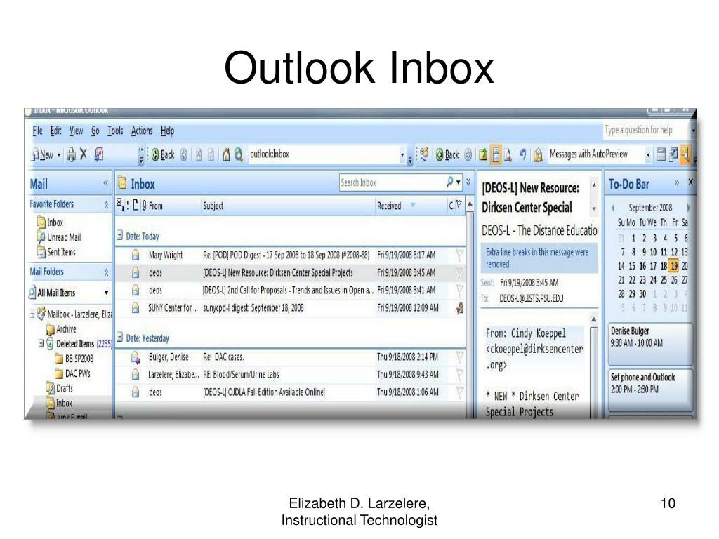 Outlook Inbox