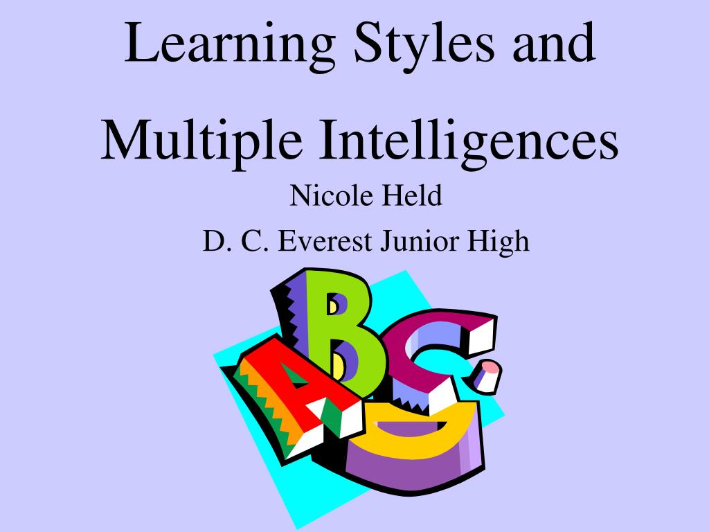 Ppt Learning Styles And Multiple Intelligences Powerpoint