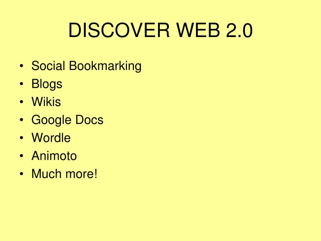 DISCOVER WEB 2.0