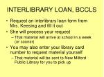 interlibrary loan bccls