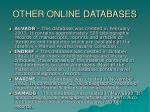 other online databases21