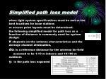 simplified path loss model
