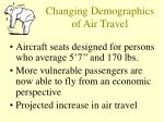 changing demographics of air travel
