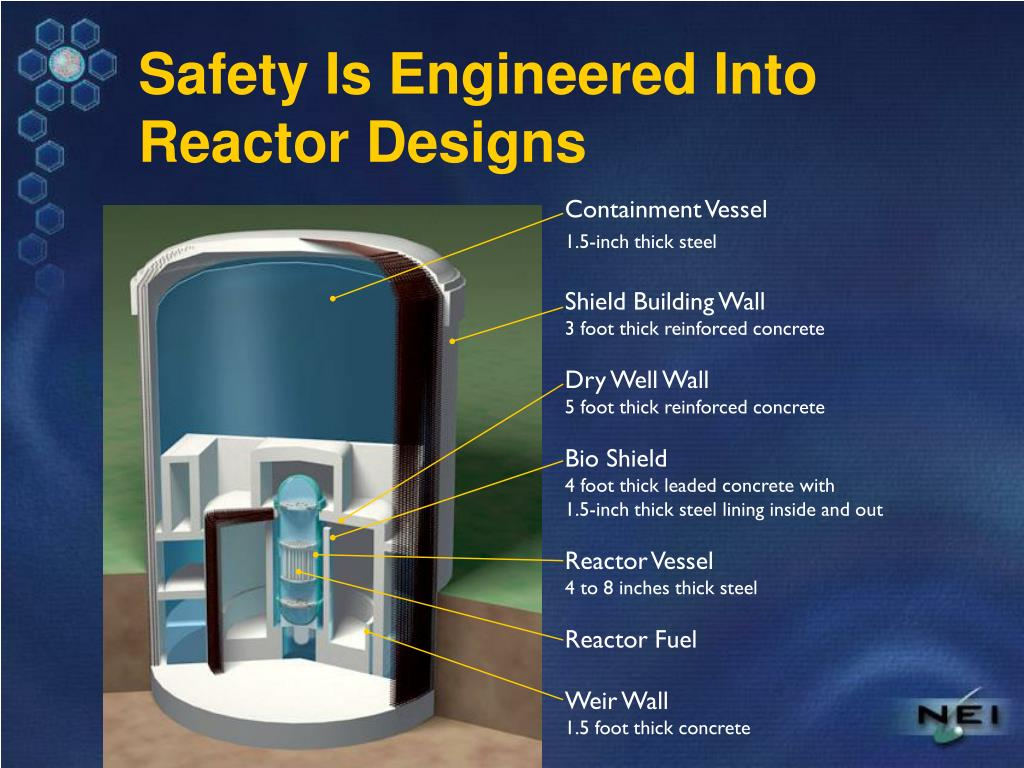 Safety Is Engineered Into Reactor Designs