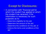 except for disclosures31
