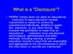 what is a disclosure