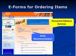e forms for ordering items
