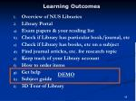 learning outcomes68