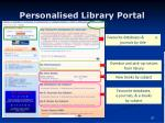 personalised library portal