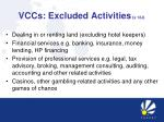 vccs excluded activities s 12j