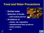 food and water precautions