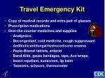 travel emergency kit