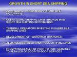 growth in short sea shipping