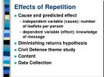effects of repetition