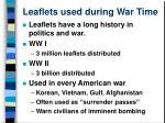 leaflets used during war time