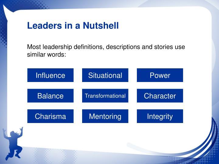 Leaders in a Nutshell