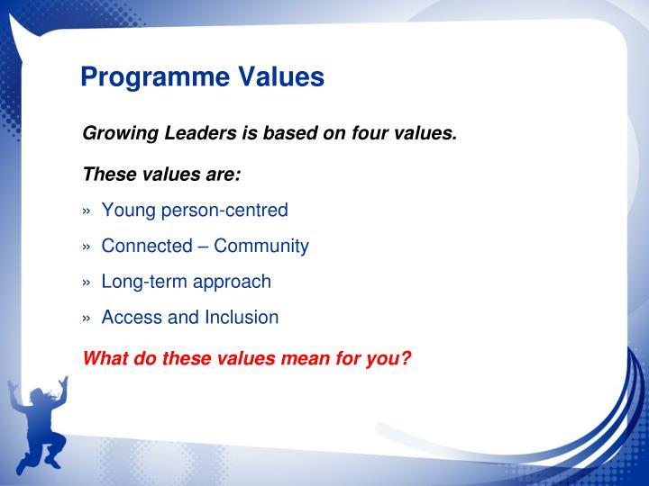 Programme Values