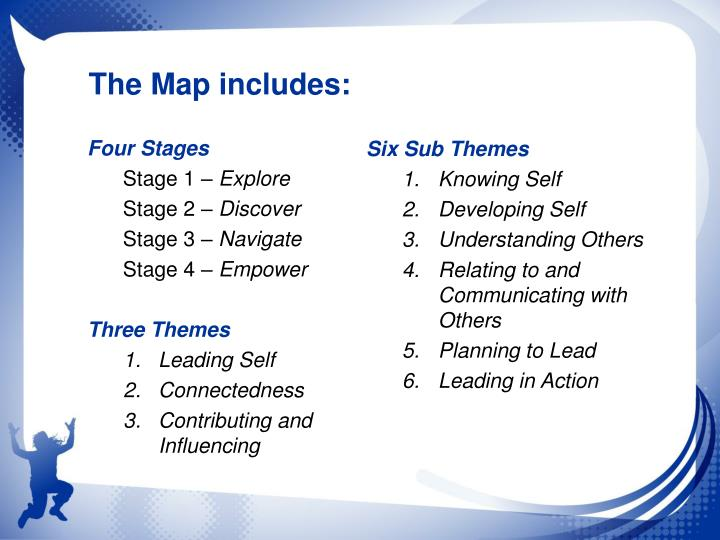 The Map includes: