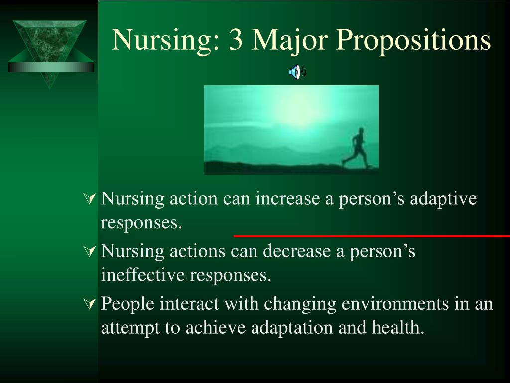 Nursing: 3 Major Propositions