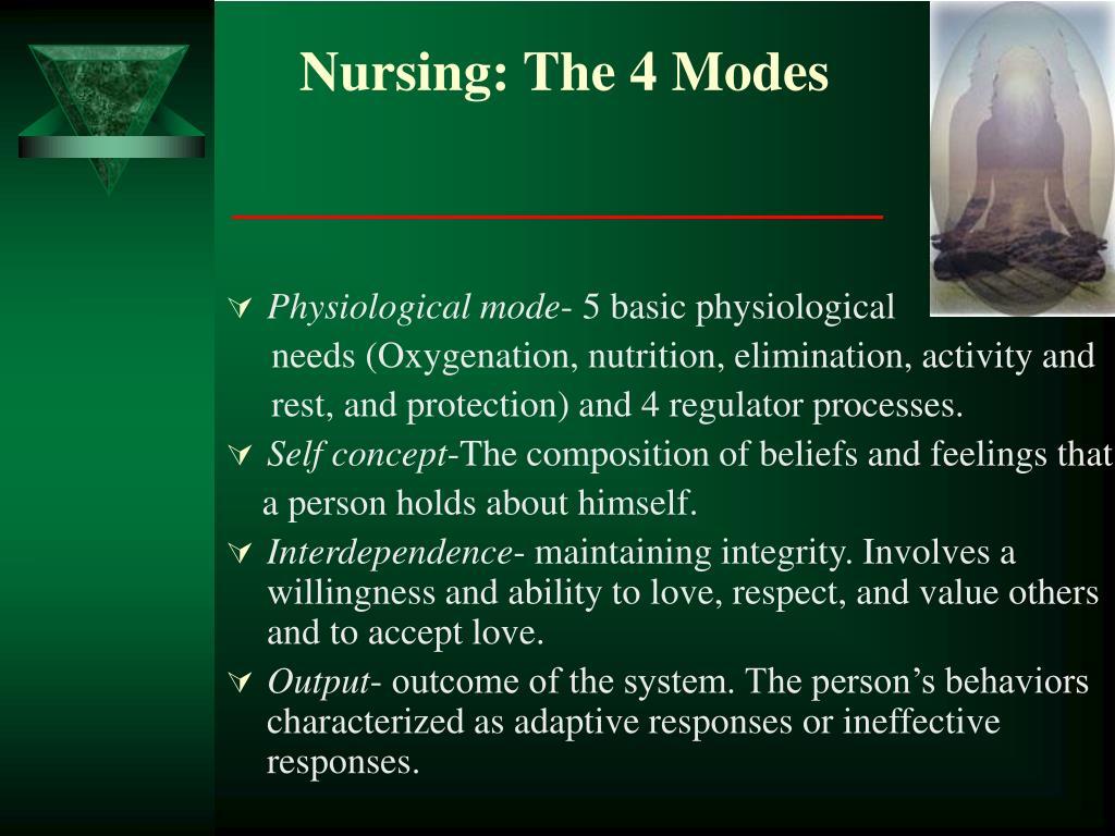 Nursing: The 4 Modes