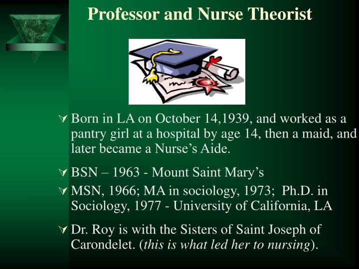 Professor and nurse theorist