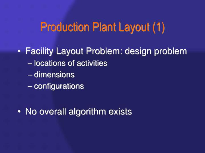production plant layout 1 n.