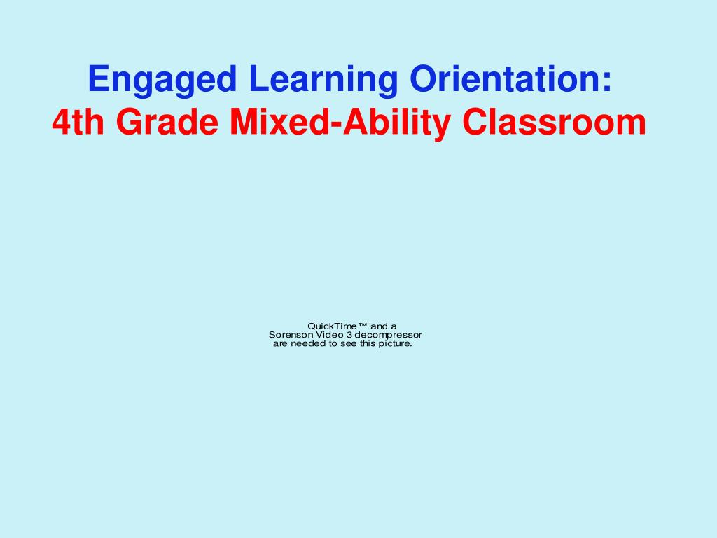 Engaged Learning Orientation: