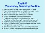 explicit vocabulary teaching routine