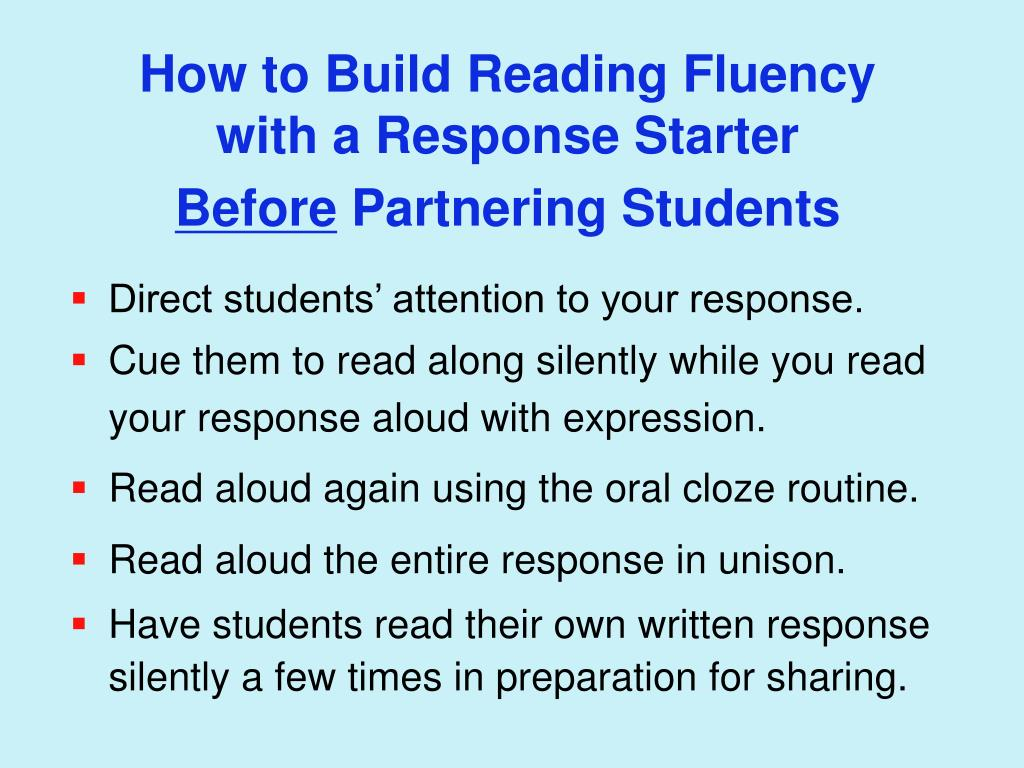 How to Build Reading Fluency