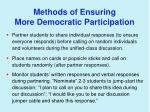 methods of ensuring more democratic participation