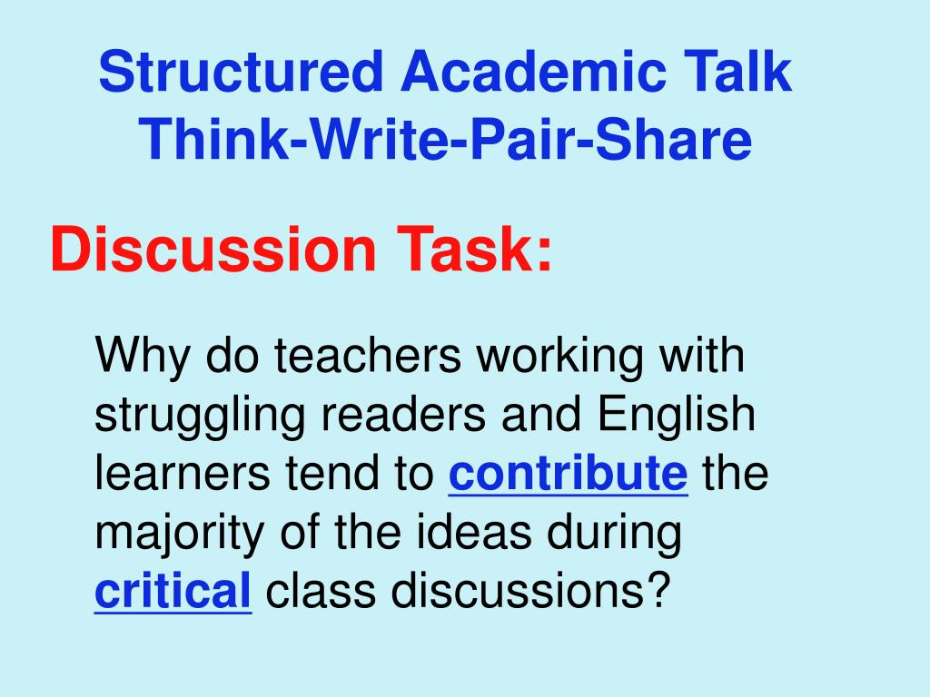 Structured Academic Talk