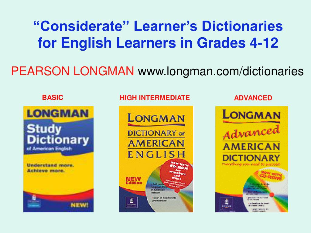 """Considerate"" Learner's Dictionaries"