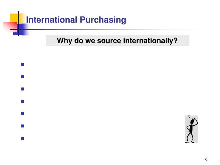 International purchasing